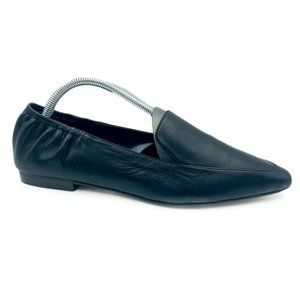 Sole Society Breck Leather Pointed Toe Flat Loafer